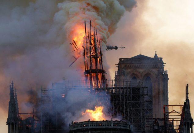 Notre Dame Cathedral fire April 15th