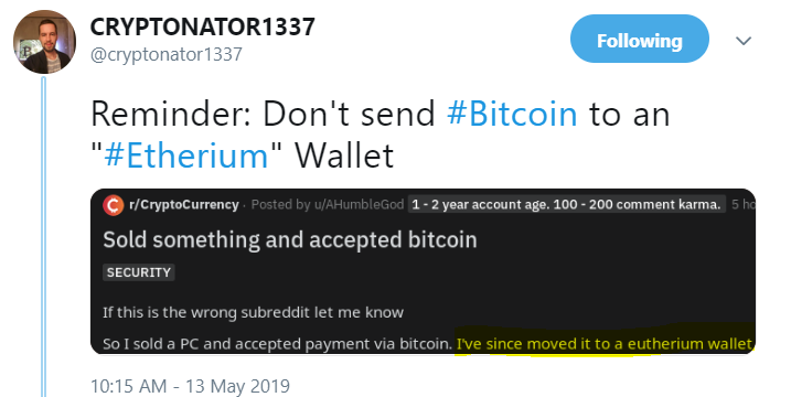 Crypto tweets of the day – 13-May-2019